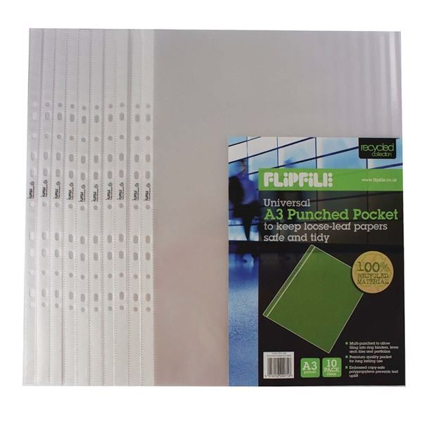 A3 Ring Binders & Sleeves, Pack of 10 PRA3PS