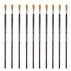 Golden Synthetic Angled - Size 8 - Value Pack of 10 brushes BSYSA8P