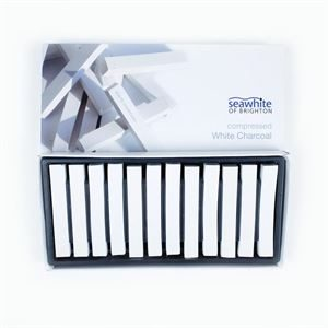 Compressed Charcoal 12pk - White