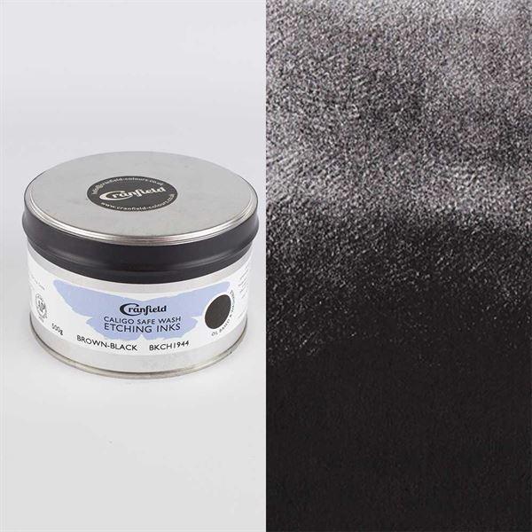 PTIE5BRB Caligo Safewash Etching Ink Brown Black 500g Tin