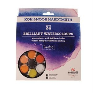 Koh-i-Noor Anilinky Brilliant Watercolours - set 24 PTBRW24