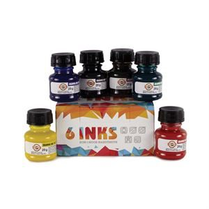 Koh-I-Noor Drawing Ink Set x6 bottles PTAIS6